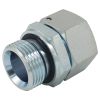 Carbon Steel Pipe Connector Metric Female 24 Deg / Bsp Male Double 60 Deg Hydraulic Hose Adapter