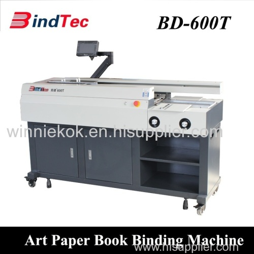 Automatic Art Paper Perfect Binder Electric Hot Melt Glue Book Binding Machine