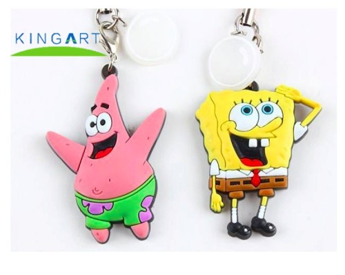 Make Your Own Logo PVC 3D Key Chain Parts 3d custom PVC keychain for wholesale