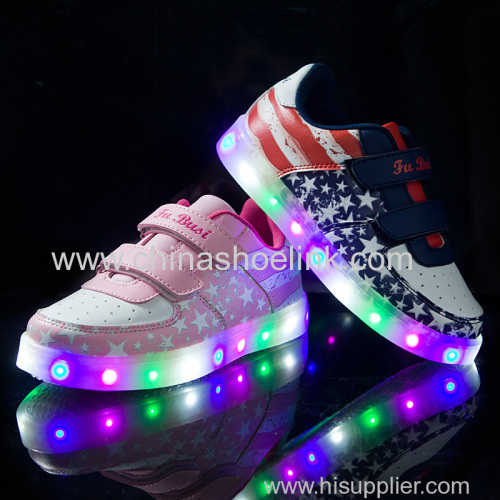 LED Luminous Child skateboard shoes young shoes manufactor