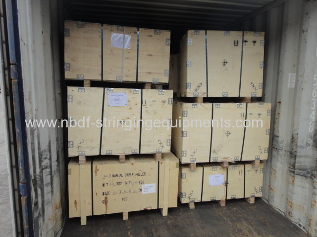 Transmission line stringing tools exported to American countries