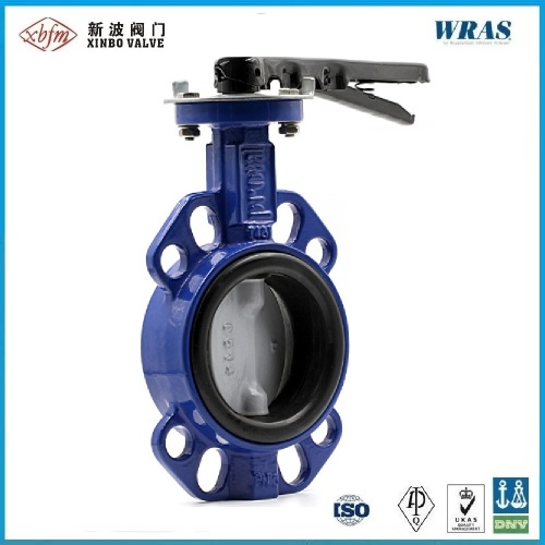 Ductile Iron Wafer Type Pinless Non-Backed Seat Butterfly Valve
