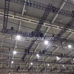 Powerder Coated Black Truss System Suppended in Ceiling