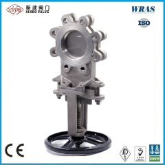 Pn10 Pneumatic Ductile Iron Knife Gate Valve