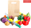 Kids Role Play Kitchen Wooden Fruit Vegetable Food Cutting Toy Set Wooden Toy