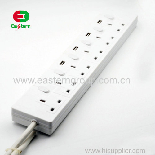 standard high flame retardant PC shell 4way multi universal electrical extension power socket