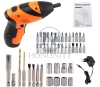 Cheap LED Working Light Folded Handle Tools Set Drill Kit Cordless Electric Screwdriver for Solar Installation Work