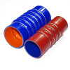 Automotive 4-ply Polyester reinforcement Silicone Bellows Hose with Wire Rings