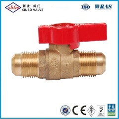 Brass Gas Ball Valve with Red Butterfly Handle Mxm