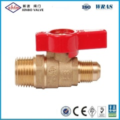 Brass Gas Ball Valve   Flare X Male