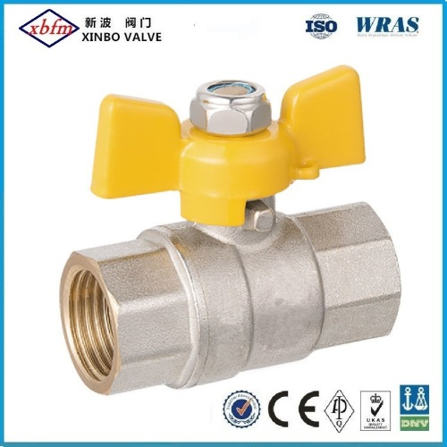 Brass Gas Ball Valve with Butterfly Handle
