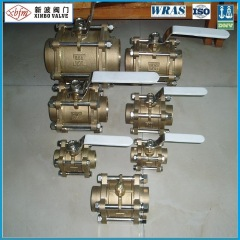 3 PCS Brass Ball Valve with Lockable Handle