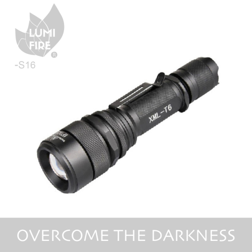 Telescopic Zoom T6 Tactical LED Flashlight