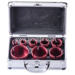 Diamond Brazed Core Drill Set 8pcs