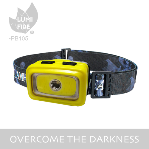 multifucntion 3w cob led camping headlamp with warining light