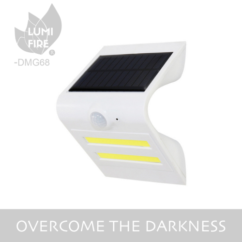 big size super bright COB solar motion sensor wall light for garden