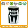 Round Tin Coffee Metal Can with Food Grade Coffee Tin