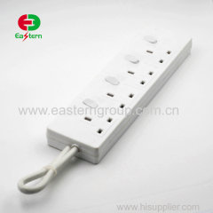 UK type 13A/240V extension lead Surge Protector with 4 Rotating Outlets