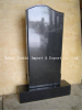 Russian Style Polished Shanxi Black Granite Monument Tombstone