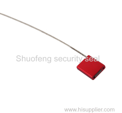 Cable security seal Plug in locking mechanism adjustable length pull-tight Aluminium Alloy Wrapped cover