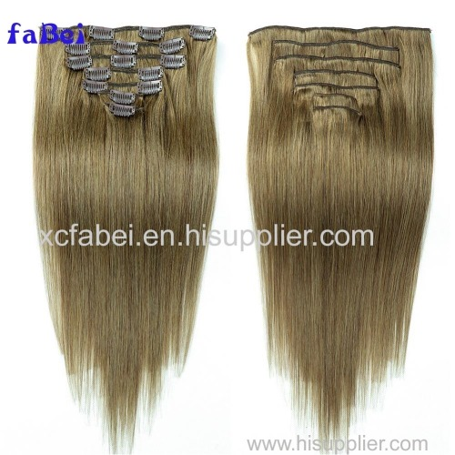 cheap 100% virgin human grey color clip in hair extensions for black women unprocessed remy clip in hair extensions fre