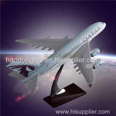 Airplane Model OEM Airbus 380 Qatar Airways Static Model Aircraft Direct Sales for Souvenir