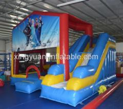 Inflatable Frozen Combo Bouncer and slide