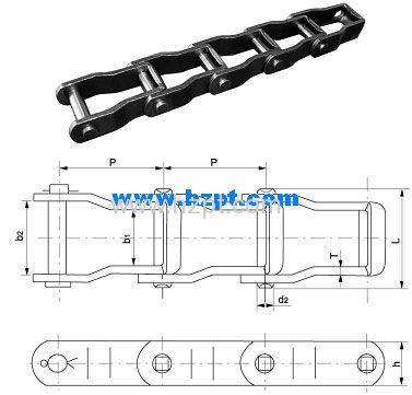 Steel Pintel Chain 667X 667XH 667H For Agriculture Transmission Parts