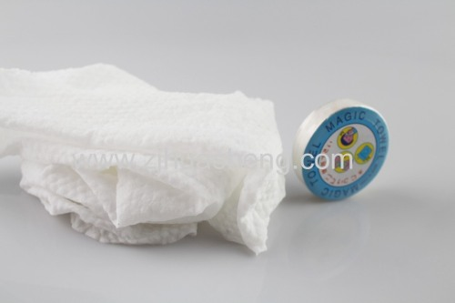 100% Rayon Nonwoven Compressed Magic Towel Round shape
