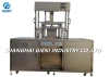 Fully Hydraulic Cosmetic Powder Press Machine For Foundation Cake 6 cavities per mold auto powder feeding