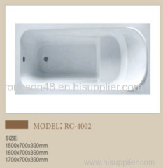 Wholesale Euro hotel home apartment good sale design bathroom white drop in acrylic tube in cheap price