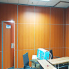 Movable Track Aluminium Profile Soundproof Office Floor to Ceiling Partition Wall