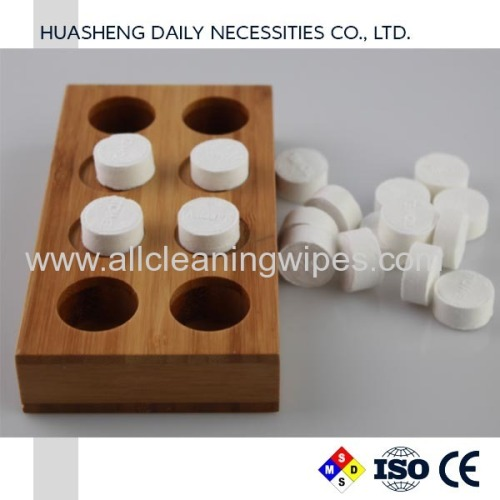 Compressed Towels Wood Holders
