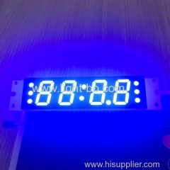 "Ultra blue 4 digit 0.58"" 7 segment led clock display for speaker /sound/radio"