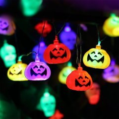 Solar String Light Halloween Pumpkin Lantern For Party Decorations