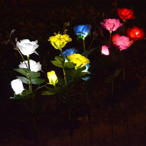 Outdoor Decorative Solar Rose LED Lights