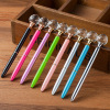 2018 New Design Kawaii Decorative Round Crystal Metal Ballpoint Pen Large Diamond Ball Pens For Fashion Girl