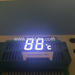 "Custom Ultra white dual digit 0.47"" 7 segment led display common cathode for temperature indicator"