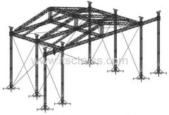 Aluminum Truss Rooftop 8 Towers Design Heavy Duty Pyramid Roofing