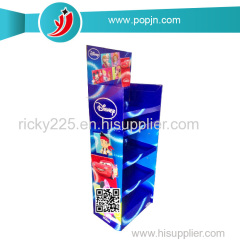 Corrugated Pop POS Display Stand Soap Cardboard Display Stand