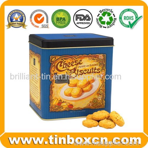 Food Packaging Cheese Biscuits Metal Tin Box