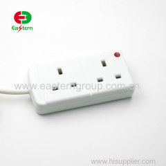 2 3 4 5 Way BS UK Extension socket with individual switch and led light