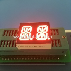 Super bright red 0.54-inch Dual-digit 14-segment LED Alphanumeric Display for instrument panel