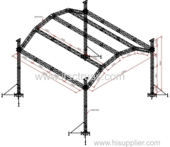 Aluminum Truss Halfmoon Roof for Rental Business
