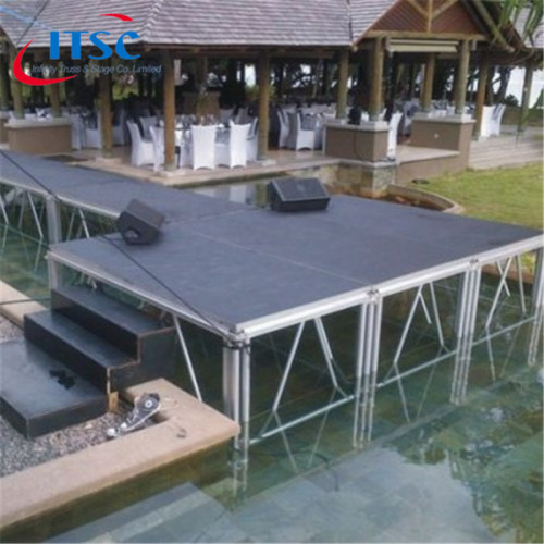 3.66x2.44m T-shape Standard mobile stages with 0.8-1.2m high for Catwalk Show