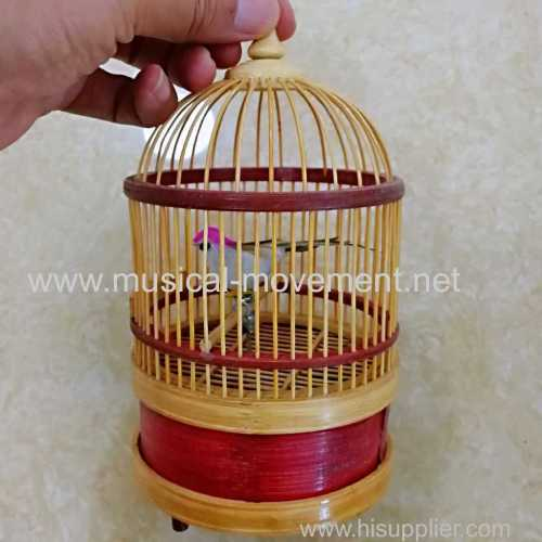 VINTAGE SINGGING BIRD CAGE MUSIC BOX