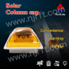 4LED red square solar powered traffic warning lights for guardrails