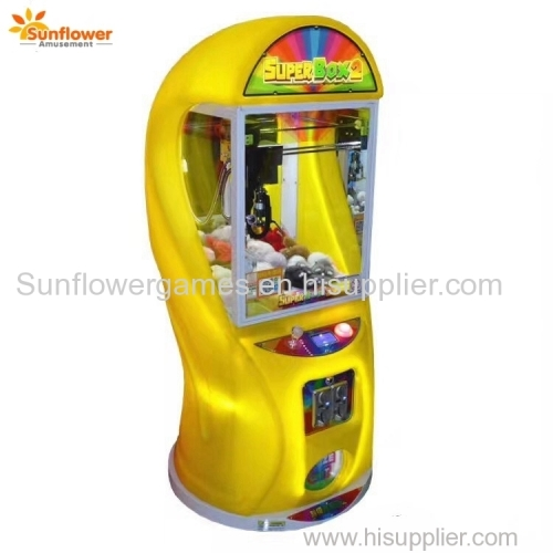 New 2018 Super Box2 Mini Toy Crane Claw Machine Coin Operated Toy Vending Machine