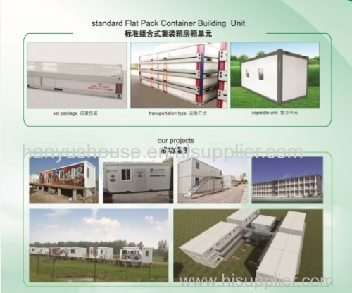Sandwich type 20Feet Modular prefab Flatpack Container house for living room office and multi function building