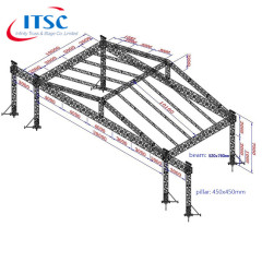 Lighting Truss Roof for Sale Indonesia 20x10x7M